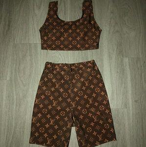 Other - 2 piece set ( bike shorts & sports bra )
